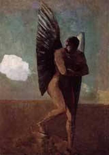 Fallen Angel Looking at at Cloud 1875